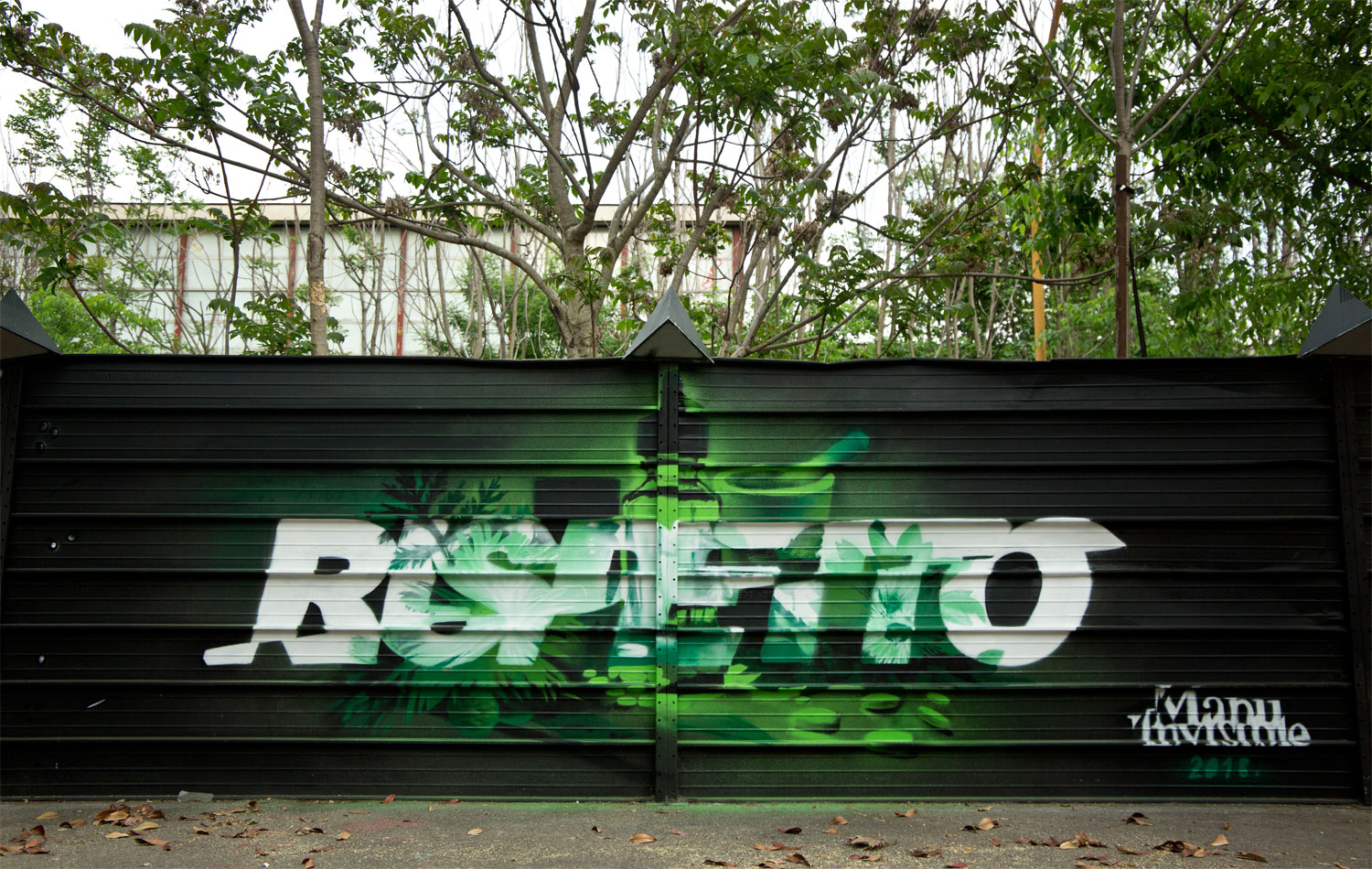 ''Rispetto'' Spray on metal 2 x 5 m Milano 2018